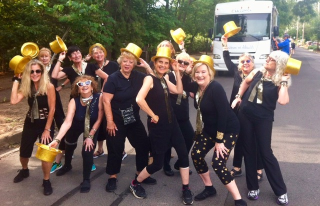 The mighty Broadway Boomers getting ready for the parade
